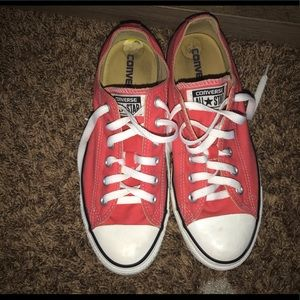 Pink Converse shoes